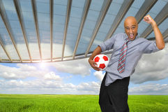 Soccer power Royalty Free Stock Images