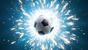 Soccer. Powerful soccer energy. Background Soccer ball Royalty Free Stock Photography