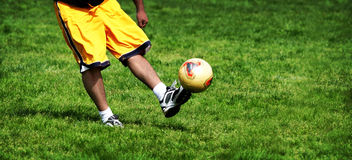 Soccer practice Royalty Free Stock Image