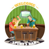 Soccer Pub Illustration Royalty Free Stock Images
