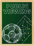 Soccer public viewing Stock Images