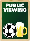 Soccer public viewing, Stock Image