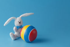 Soccer rabbit with ball Royalty Free Stock Photography