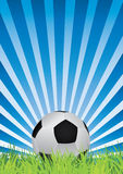 Soccer and rays Royalty Free Stock Photos