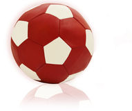 Soccer red ball Royalty Free Stock Images