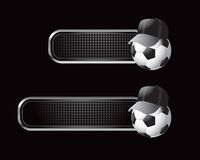 Soccer referee ball banners Royalty Free Stock Image