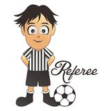 Soccer referee cartoon Royalty Free Stock Photos