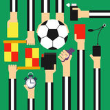 Soccer referee design flat Royalty Free Stock Images