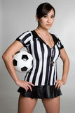 Soccer Referee Girl Royalty Free Stock Image