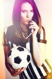 Soccer Referee Girl Stock Photos