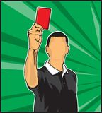 Soccer referee giving red card Royalty Free Stock Photos