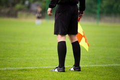 Soccer referee. Guardalinee arbiter assistant Royalty Free Stock Photos