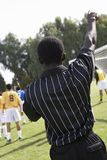 Soccer referee pointing Stock Image