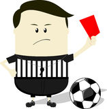 Soccer referee showing red card Royalty Free Stock Photography