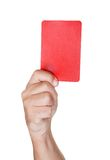 Soccer Referee Showing Yellow Card Royalty Free Stock Photos