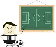 Soccer referee teaching Stock Photography