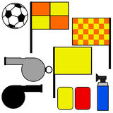 Soccer referee tools Royalty Free Stock Image