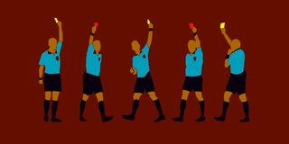 Free Soccer Referee Yellow Red Cards Vector Royalty Free Stock Photography - 120255527