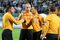 Soccer referees Stock Photography