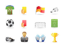 Soccer related icons Royalty Free Stock Photos