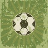 Soccer retro card with game ball Royalty Free Stock Photography