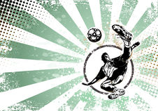 Soccer retro poster background Royalty Free Stock Images