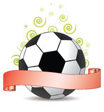 Soccer ribbon Royalty Free Stock Image