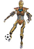 Soccer robot Stock Photo