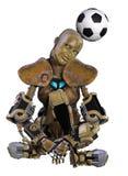 Soccer robot Stock Image