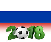Soccer 2018 with russian flag Stock Photo