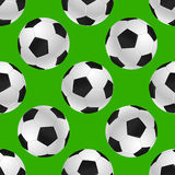 Soccer's ball seamless texture over green Stock Images