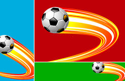 Soccer's banner Stock Photos