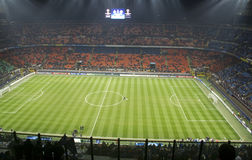 Soccer in San Siro stadium in Milan Stock Image