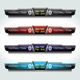 Soccer Score Broadcast Graphics. Score Broadcast Graphic Template for soccer and football, vector illustration Stock Images