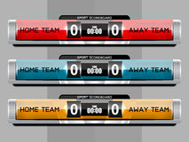 Soccer Score Broadcast Graphics Royalty Free Stock Image