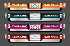 Soccer Score Broadcast Graphics Template stock illustration