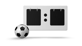 Soccer scoreboard Royalty Free Stock Images