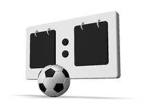 Soccer scoreboard Royalty Free Stock Photo