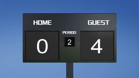 Soccer scoreboard score Royalty Free Stock Photos