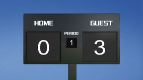 Soccer scoreboard score Royalty Free Stock Photo