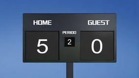Soccer scoreboard score Royalty Free Stock Photography