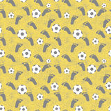 Soccer seamless pattern. Royalty Free Stock Photos