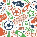 Soccer  seamless pattern Royalty Free Stock Image