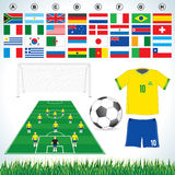 Soccer set stock image