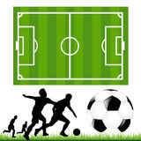 Soccer Set. Vector Royalty Free Stock Image