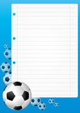 Soccer sheet Royalty Free Stock Photography