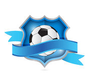 Soccer shield seal illustration design Stock Photography