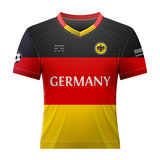 Soccer shirt in colors of german flag Royalty Free Stock Image