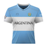 Soccer shirt in colors of аrgentinean flag Stock Photography