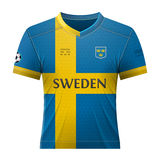 Soccer shirt in colors of swedish flag Stock Image